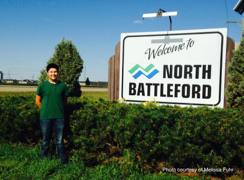 Jontay Kahm lives in North Battleford, Canada.  He was only 14 when he started making clothing by hand.