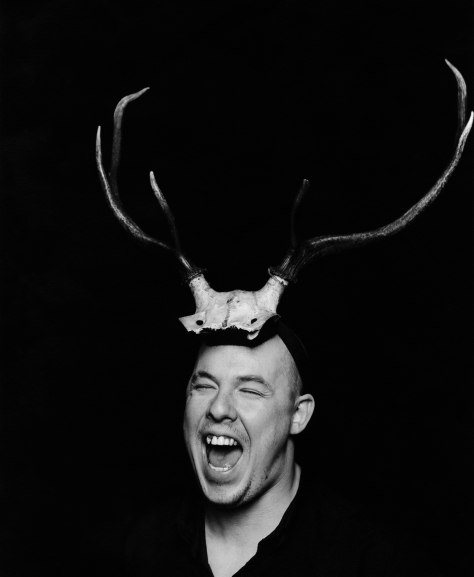 Portrait of Alexander McQueen, 1997.  ©Marc Hom/Trunk Archive